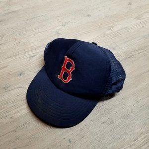 Vintage Boston Red Sox Baseball Trucker Hat. RARE!